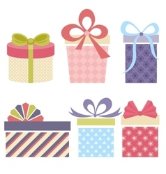 Collection of gifts vector image vector image