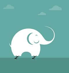 Elephants and ants vector