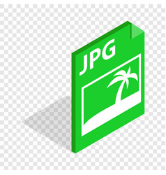 File jpg isometric icon vector