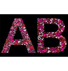 Font letterAB vector image