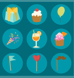Happy birthday party celebration entertainment vector