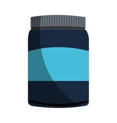 Isolated protein supplement design vector image