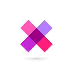 Letter x cross mosaic logo icon design template vector
