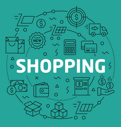linear shopping vector image vector image