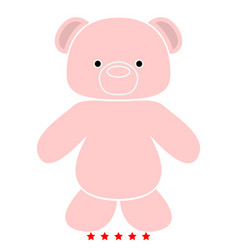 Little bear icon flat style vector