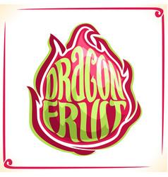 Logo for dragon fruit vector