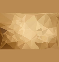 low poly pattern brown vector image vector image