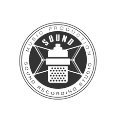 Music Record Studio Black And White Logo Template vector image vector image