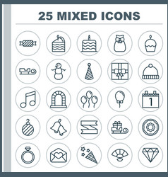 New icons set collection of air ball brilliant vector