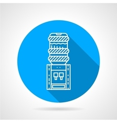 Portable water cooler blue round icon vector