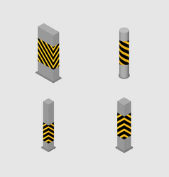 set of concrete columns and pillars vector image vector image