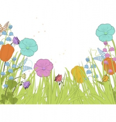 spring florals vector image vector image