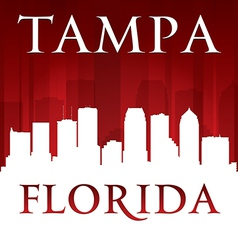 Tampa Florida city skyline silhouette vector image