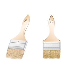 two brush vector image