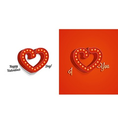 Vintage Red Heart vector image