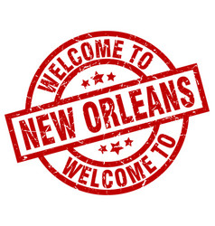 Welcome to new orleans red stamp vector