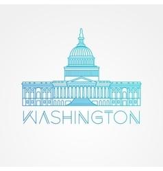 Washington DC US Capitol Building vector image