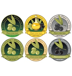 Collection olives vector