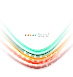 Abstract wave template vector