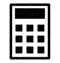 Calculator grainy texture icon vector