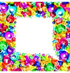 font bubble3 vector image