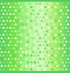 glowing shamrock pattern seamless clover vector image