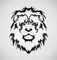 Lion Face Tribal vector image