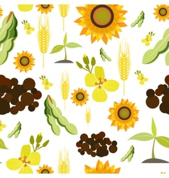 Agriculture seamless pattern vector