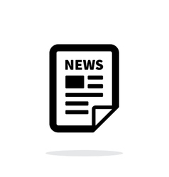 News file icon on white background vector
