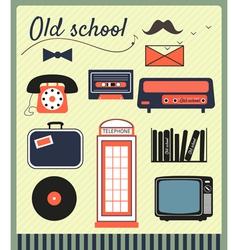old school vector image