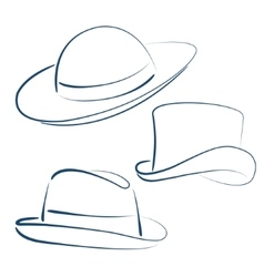 Lady and gentleman hats vector