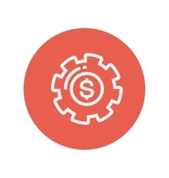 Money gear thin line icon vector