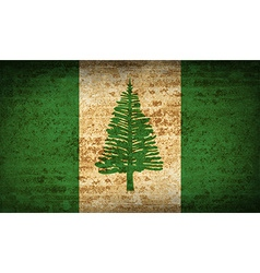 Flags norfolk island with dirty paper texture vector