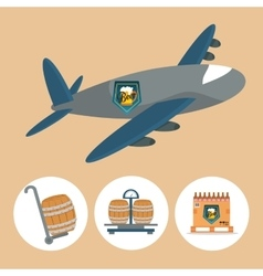 Beer industry design vector
