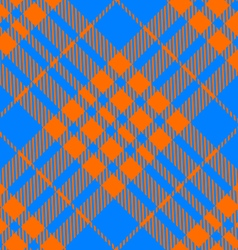 Orange and blue tartan diagonal seamless vector