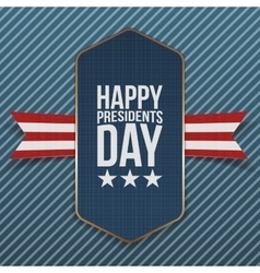 Happy presidents day big realistic american banner vector