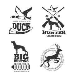 Hunting club vintage labels emblems logos vector