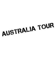 Australia tour rubber stamp vector