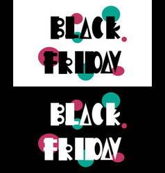 Black friday 3 - postcard and banner vector