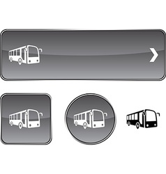 Bus button set vector image vector image