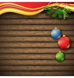 Christmas tree and decorative elements on vector image vector image