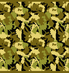 classic seamless military camouflage pattern vector image vector image