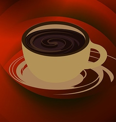Coffee cup and saucer vector