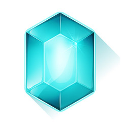 crystal gem icon for game ui vector image vector image