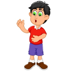 cute little boy cartoon shocked vector image