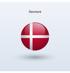 Denmark round flag vector