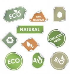 eco recycling labels vector image vector image