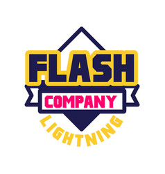 Flash lightning company logo template design vector