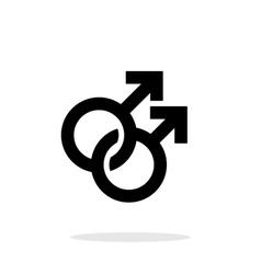 Gay icon on white background vector image vector image