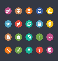 Glyphs colored icons 19 vector
